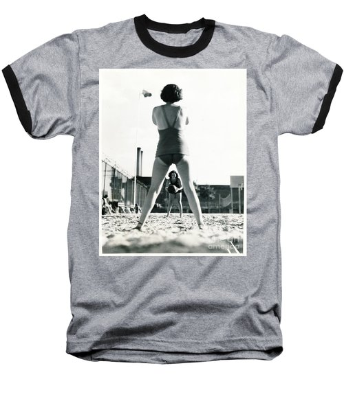 Miramar Pool, 1932 Baseball T-Shirt by Cole Thompson
