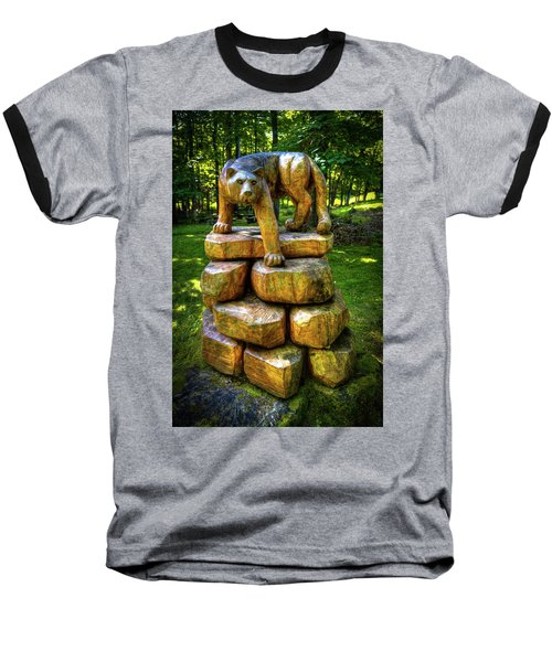 Baseball T-Shirt featuring the photograph Mirnie's Cougar Sculpture by David Patterson