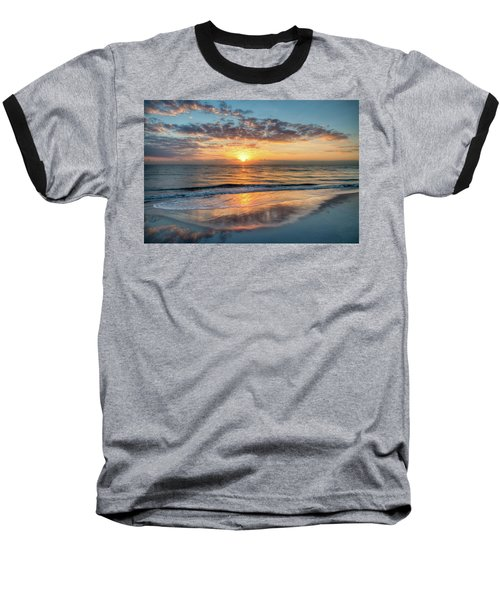 Baseball T-Shirt featuring the photograph Mirror At Sunrise by Debra and Dave Vanderlaan