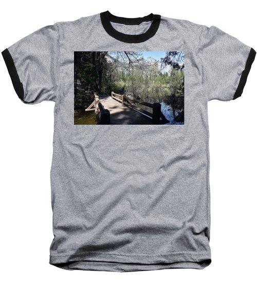 Mirror Lake At Yosemite National Park Baseball T-Shirt