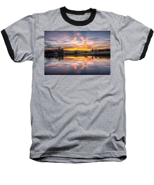 Mirror Lake Sunset Baseball T-Shirt