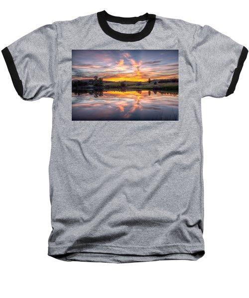 Mirror Lake Sunset Baseball T-Shirt