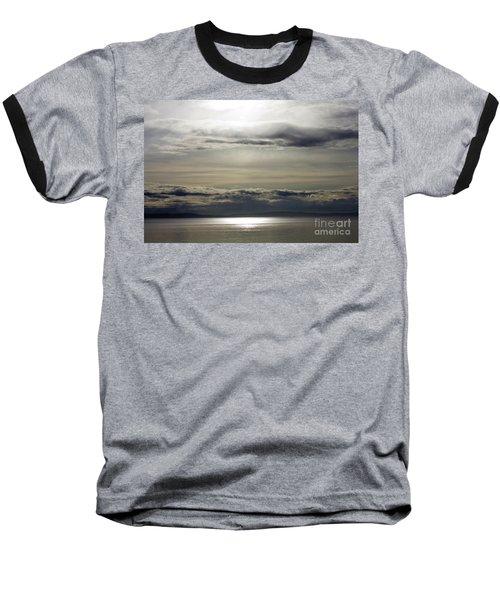 Mirror Sunset Landscape Baseball T-Shirt