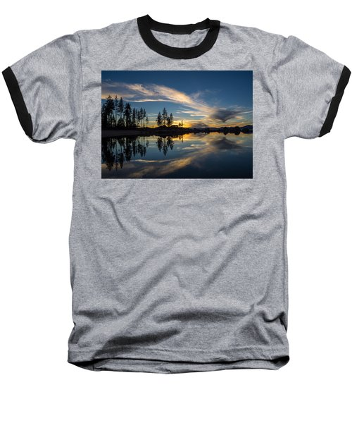 Mirror Sunset Baseball T-Shirt