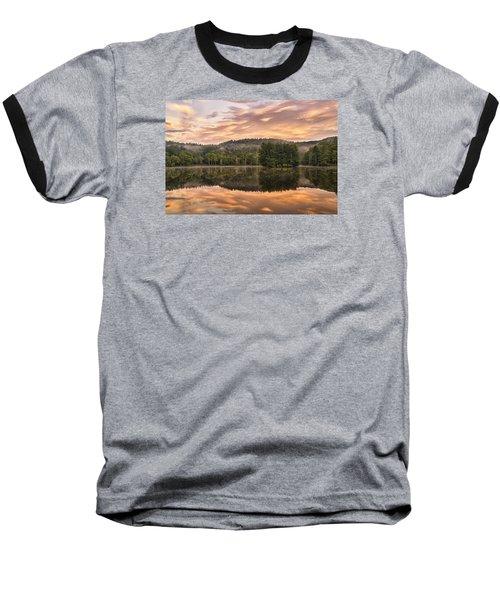Bass Lake Sunrise - Moses Cone Blue Ridge Parkway Baseball T-Shirt