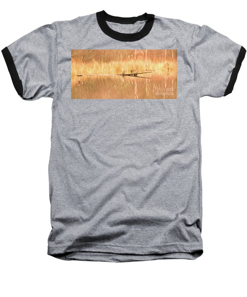 Mirrored Reflection Baseball T-Shirt by Laurinda Bowling