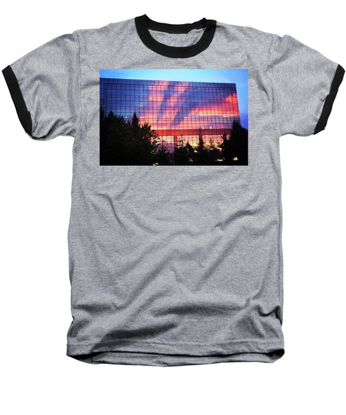 Mirrored Sky Baseball T-Shirt