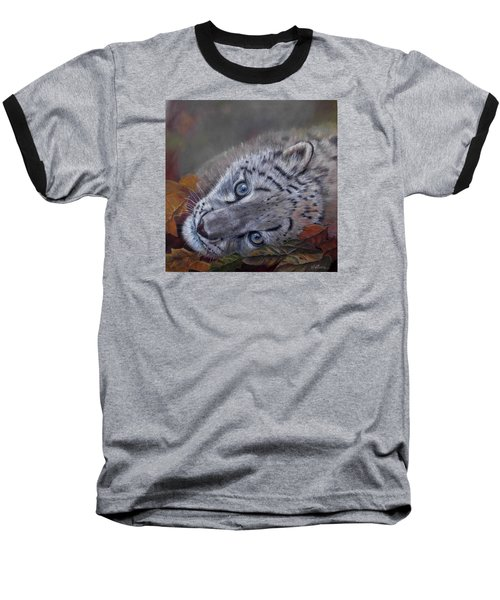 Baseball T-Shirt featuring the painting Mirucha In Fall by Ceci Watson