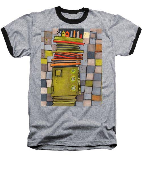 Misconstrued Housing Baseball T-Shirt by Sandra Church