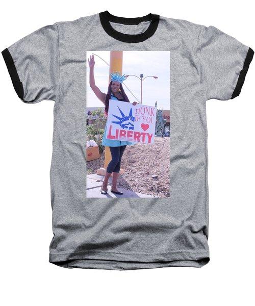 Miss Liberty Baseball T-Shirt