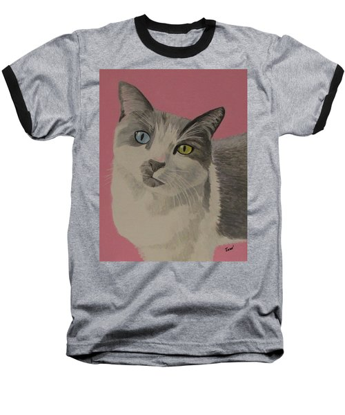 Miss Pretty Kittie Baseball T-Shirt by Hilda and Jose Garrancho