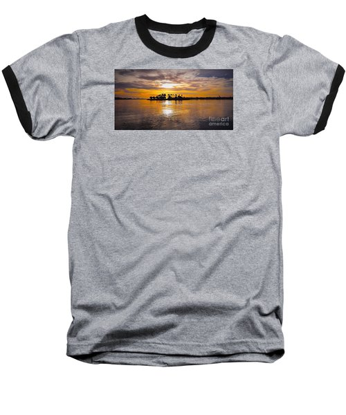 Mission Bay Purple Sunset By Jasna Gopic Baseball T-Shirt by Jasna Gopic
