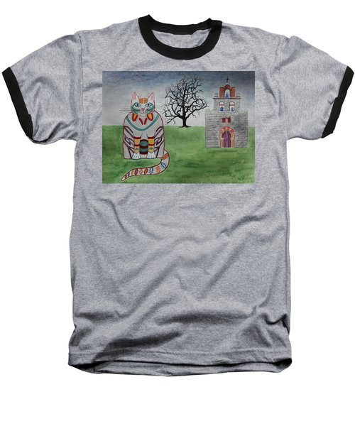 Mission Espada Cat Baseball T-Shirt