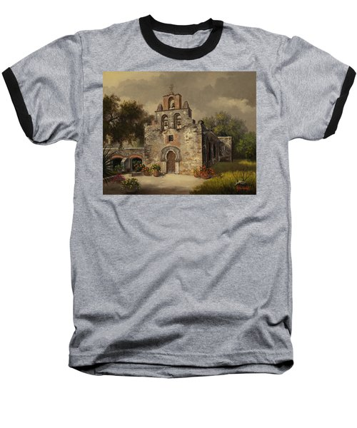 Mission Espada Baseball T-Shirt by Kyle Wood