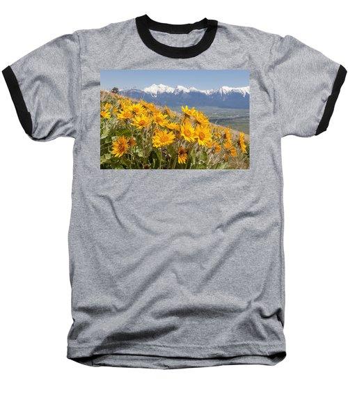 Mission Mountain Balsam Blooms Baseball T-Shirt