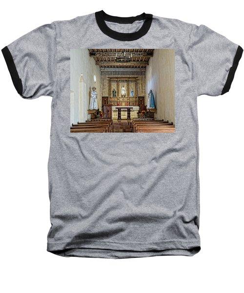 Baseball T-Shirt featuring the photograph Mission San Juan Capistrano Sanctuary - San Antonio by Stephen Stookey