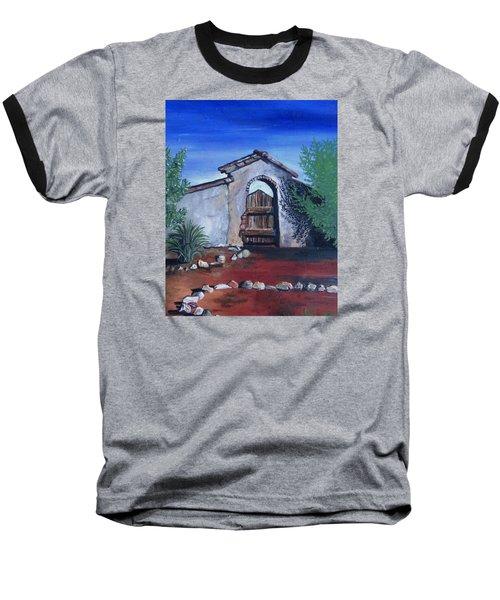 Rustic Charm Baseball T-Shirt by Mary Ellen Frazee