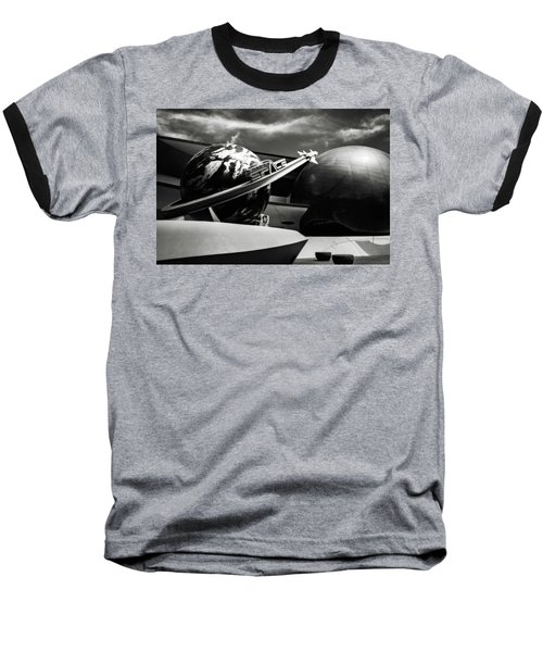 Baseball T-Shirt featuring the photograph Mission Space Black And White by Eduard Moldoveanu