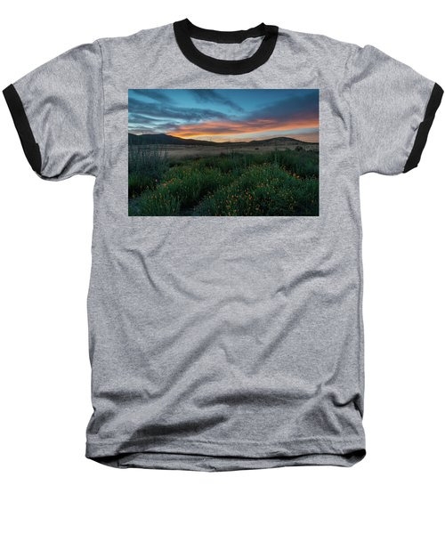 Mission Trails Poppy Sunset Baseball T-Shirt