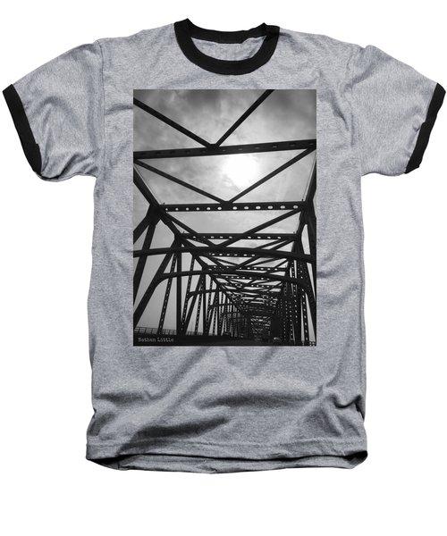 Mississippi River Bridge Baseball T-Shirt