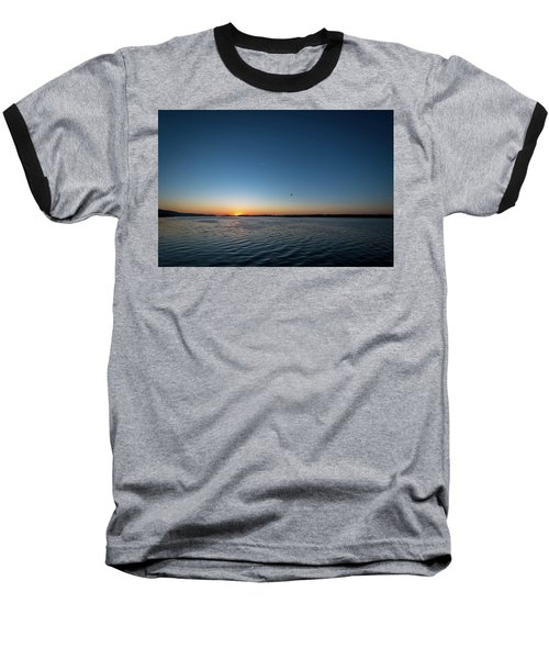 Mississippi River Sunrise Baseball T-Shirt