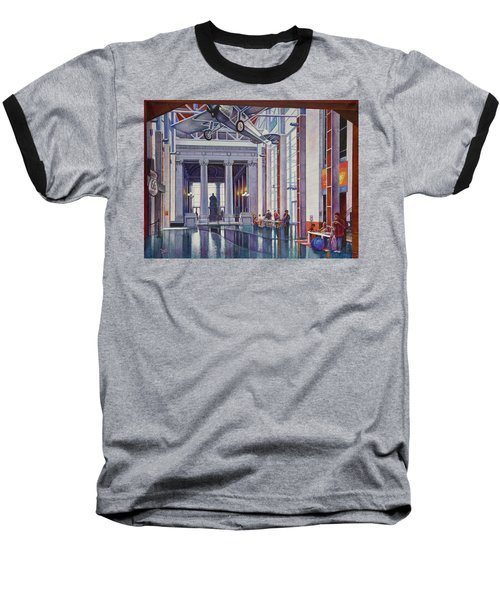 Baseball T-Shirt featuring the painting Missouri History Museum by Michael Frank