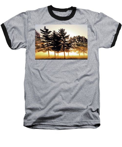 Missouri Tree Line Baseball T-Shirt by Christopher McKenzie