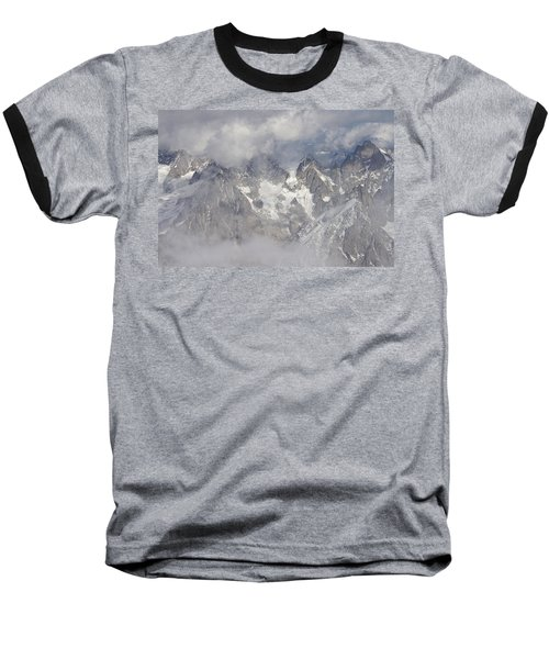 Mist And Clouds At Auiguille Du Midi Baseball T-Shirt