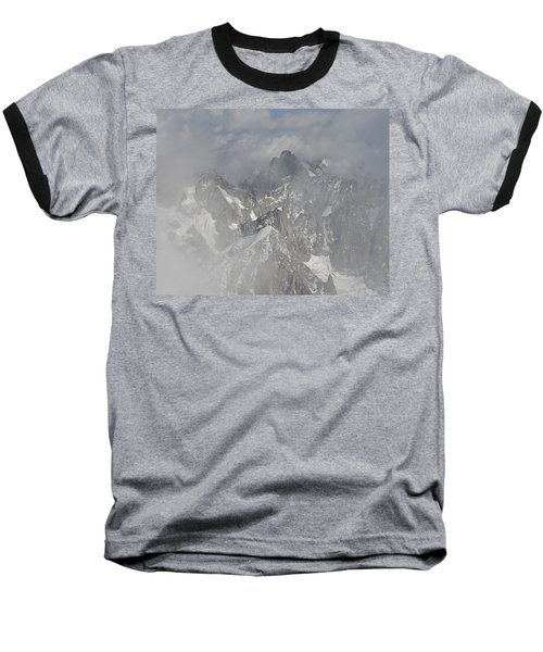 Mist At Aiguille Du Midi Baseball T-Shirt