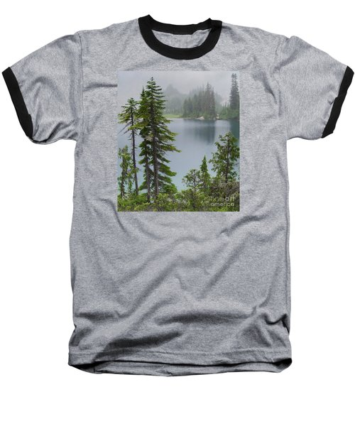 Mist At Snow Lake Baseball T-Shirt