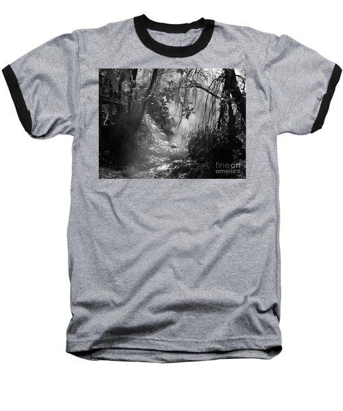 Mist In The Jungle Baseball T-Shirt by Susan Lafleur