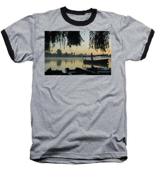 Mist Lake Silhouette Baseball T-Shirt