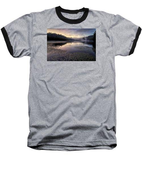 Bass Lake Sunrise - Blue Ridge Parkway Baseball T-Shirt