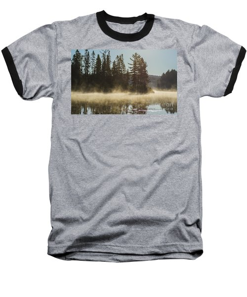 Mist On Costello Lake Baseball T-Shirt