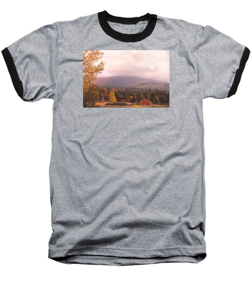 Mist On The Mountains Baseball T-Shirt