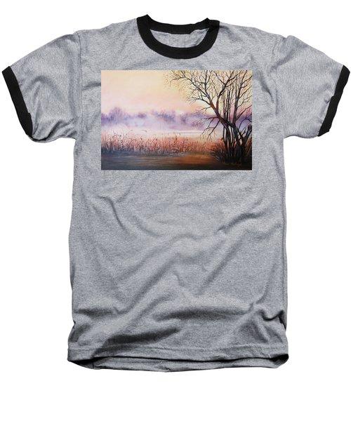 Mist On The River Baseball T-Shirt