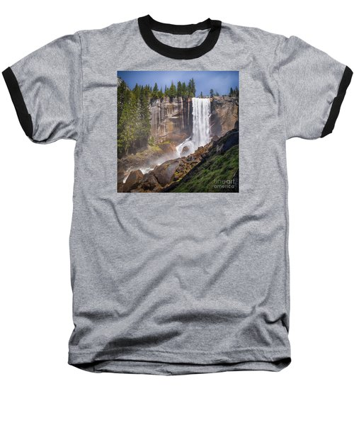 Mist Trail And Vernal Falls Baseball T-Shirt