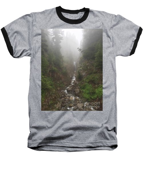 Misted Waterfall Baseball T-Shirt