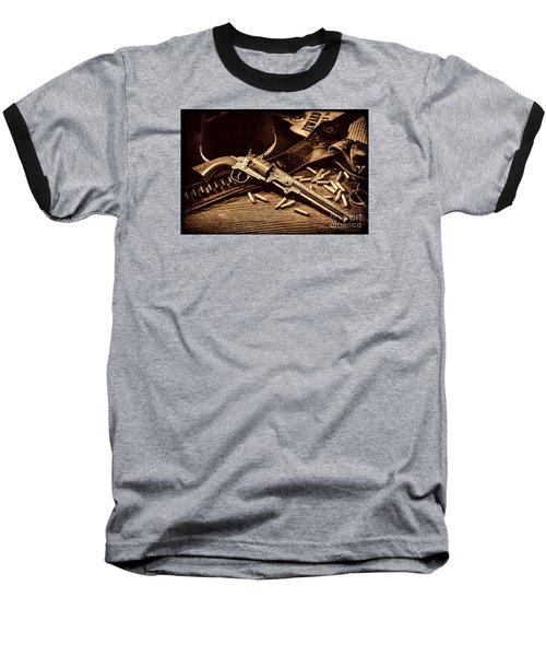 Mister Durant's Revolver Baseball T-Shirt by American West Legend By Olivier Le Queinec