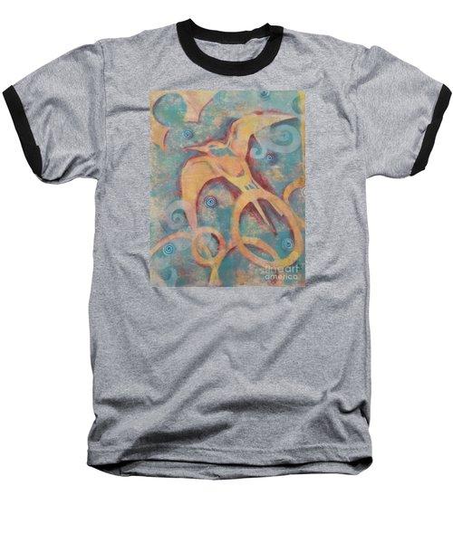 Mistral's Messenger Baseball T-Shirt by Cynthia Lagoudakis