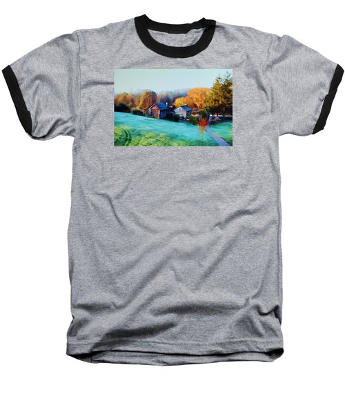 Baseball T-Shirt featuring the photograph Misty Autumn Day by Diane Alexander