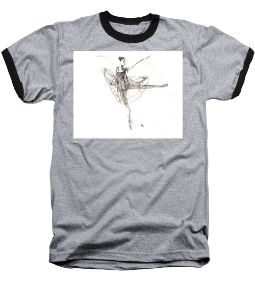 Misty Ballerina Dancer IIi Baseball T-Shirt