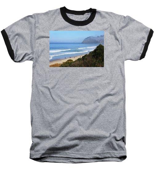 Misty Beach Morning Baseball T-Shirt