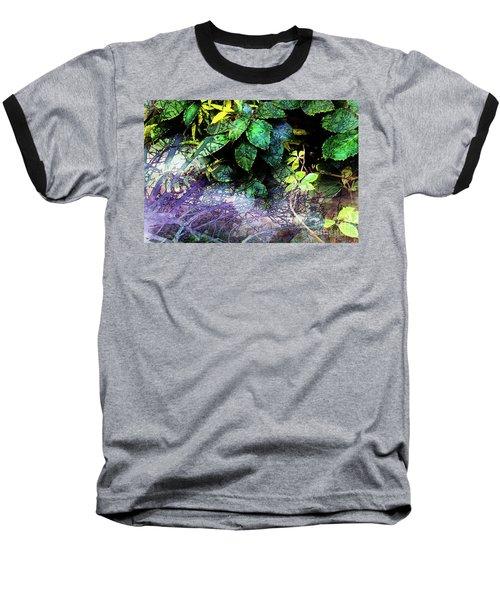 Misty Branches Baseball T-Shirt by Deborah Nakano