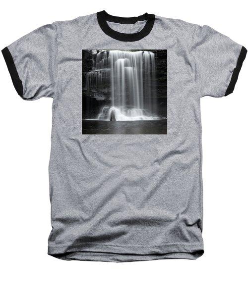 Misty Canyon Waterfall Baseball T-Shirt
