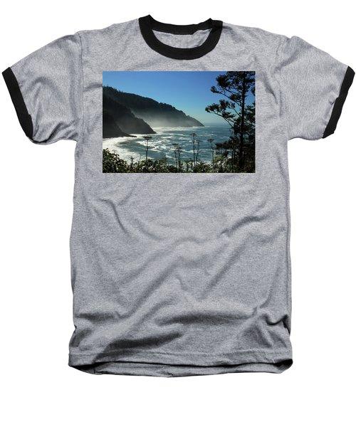 Misty Coast At Heceta Head Baseball T-Shirt