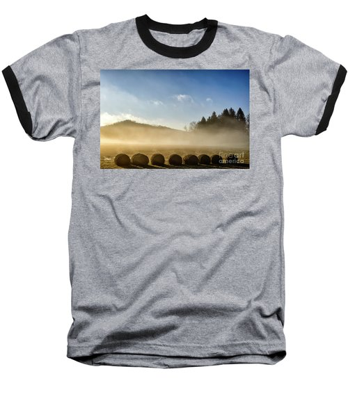 Baseball T-Shirt featuring the photograph Misty Country Morning by Thomas R Fletcher