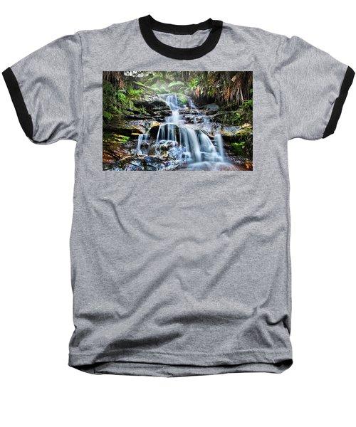 Baseball T-Shirt featuring the photograph Misty Falls by Az Jackson