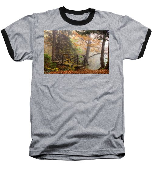 Misty Forest Baseball T-Shirt