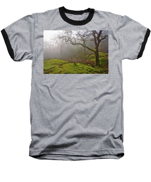 Misty Forest Baseball T-Shirt by Keith Boone